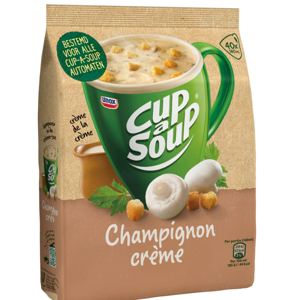 Vendingsoep Cup a soup champignon creme